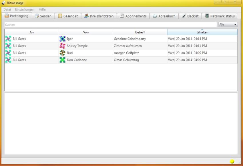 Bitmessage Screenshot
